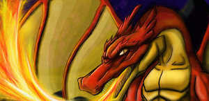 Dragon Speed painting by Danderfull