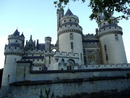 Pierrefonds Castle - Camelot front by MorgainePendragon