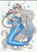 Comission Spiritual Guardian Mermaid.- by Aino-Fred