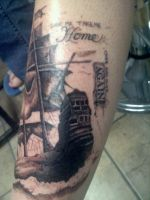 pirate ship by TwoToneTattoo