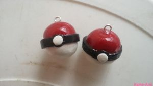 Pokemon Ball Earrings by Kame-ami