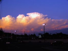 Evening Severe Thunderstorms by corvid-lover