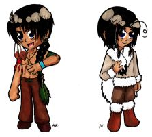 APH: Chibi Native NA Brothers by Rose-McSugar
