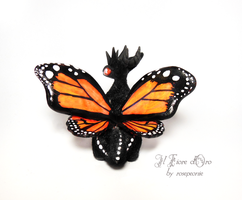 Cesar, Monarch Butterfly dragon 3 by rosepeonie