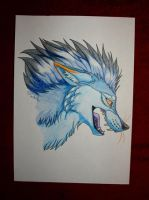 Traditional head shot - SkyRaizer by StanHoneyThief