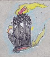 Ghost Riders Tardis by DHexed1