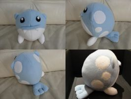 Spheal plushie by Pyritie