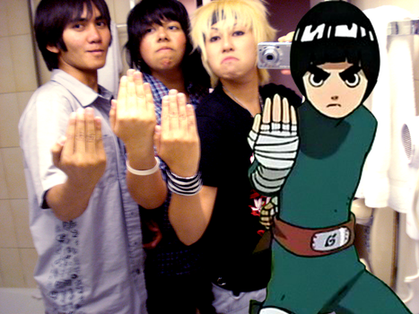 Rock Lee and his subordinates by TheCosplayTheatre