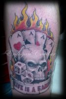 skull tattoo by ErdoganCavdar