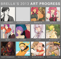 Art Progress Meme 2013 by umbrellaguns