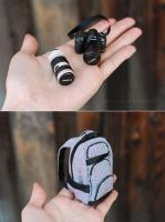 Camera and Backpack for Pasha by striped-box