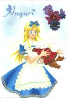 Alice and the white rabbit by YukiDelleran