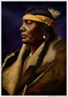 Assiniboin Boy - Atsina by wendelin