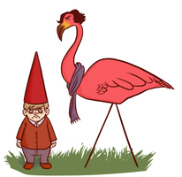 SHERMINGO AND JOHN THE GNOME by derpana