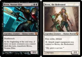 MtG - Riven, Noxian Elite//Riven, the Redeemed by soy-monk
