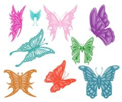 9 Butterfly brushes by Kribabe-stock