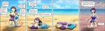 ND38-40 Stacey and Taffy, hot day at the beach by Orcbrother