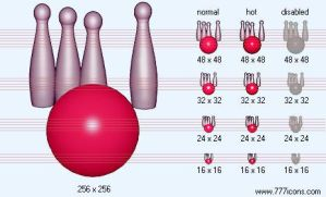 Bowling Icon by sport-icons