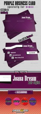 Purple Business Card by panos46