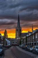 Sunset over Eindhoven by jellemartijn