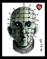 PUPPY PINHEAD by macawnivore