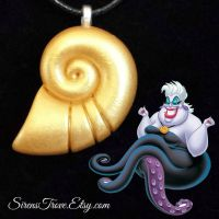 Ursula's Shell necklace - Ariel's Voice by meliohh