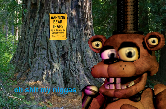 Freddy Foozbear in a Pretty Stonky Situation by SolarSands