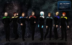 STO Uniform for Poser - Courageous V4 by DopiusFishius