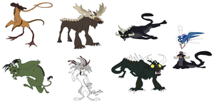 Fearsome Critters sketchdump 2 by ReggaeCyp