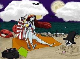 Jack and Sally at the Beach by Wickabee