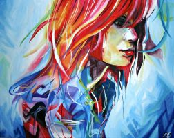 Hayley Williams Painting by Mintimelon