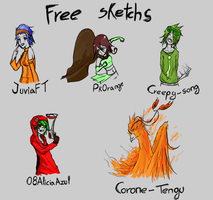 Free Sketchs by Guille300