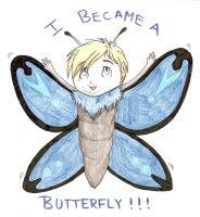 Pewdiepie ~ I Became a Butterfly! by LeopardXCrow