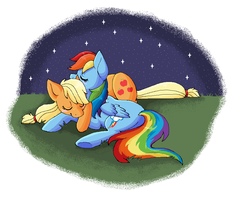 Appledash and a night sky by Dark-Pangolin