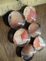 Peachy Couture Glass Magnets by celina-tamwood