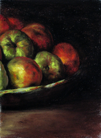 After Courbet, Pastel on Paper by THBlanchard