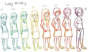 Lucy Weasley through the years by Emiline729