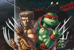 Team Up Mutant Ninja by Dreamgate-Gad