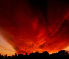 Burning sky by calavene