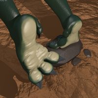 Jurassic Step: Dino Feet 3d Render by foxypaws86