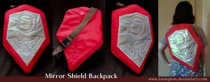 Ocarina of Time Mirror Shield backpack by tavington