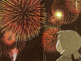 Yotsuba Firework Wallpaper by AnimezingArtist