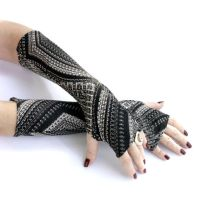 Long Abstract fingerless gloves by WearMeUp