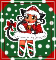 Merry Christmas Chesire-kitty-kat by BrownieTheif