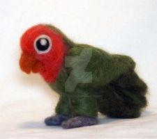 Needle Felted Lovebird by The-GoblinQueen