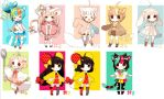 Adoptables Kemonomimi* Sparkle Set ::CLOSED:: by Hinausa
