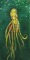 Blue Ring Squid by ktastrophe