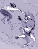 Karate Werewolf by JadeGL