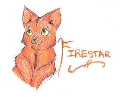 Firestar by wolfylittleartist