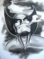 WOLVERINE STOGIE Ink sketch by AHochrein2010